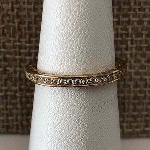 PANDORA 14k Gold Ring, Radiant Hearts